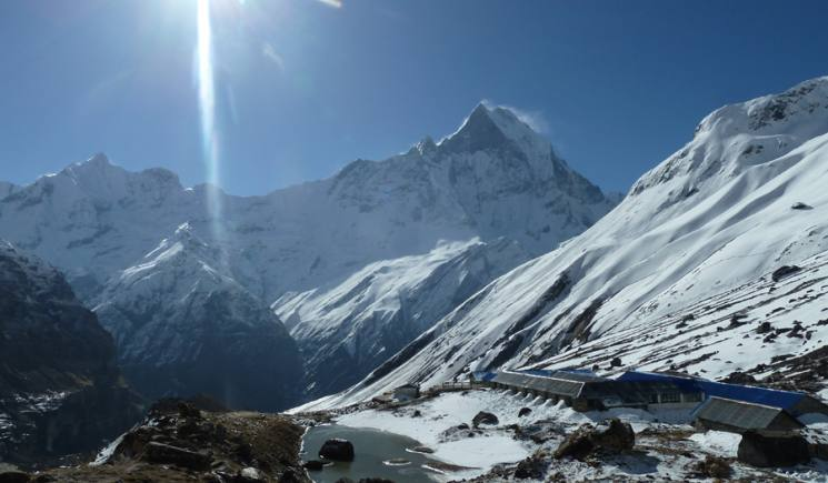 Annapurna Trekking - View from Base Camp