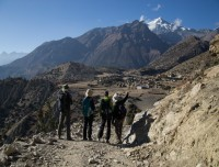 Annapurna circuit Trek at Upper Pisang